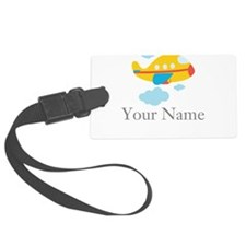 Personalized Yellow Airplane Luggage Tag