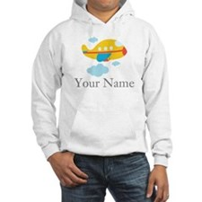 Personalized Yellow Airplane Hoodie