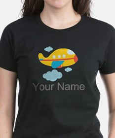 Personalized Yellow Airplane Tee