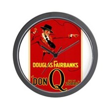 douglas fairbanks Wall Clock