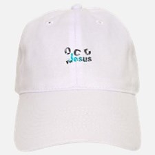 OCD for Jesus aqua Baseball Baseball Cap