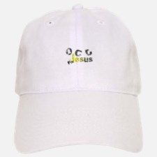 OCD for Jesus yellow Baseball Baseball Cap