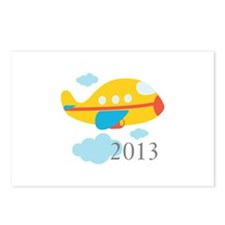 2013 First Yellow Airplane Postcards (Package of 8