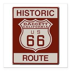 Daggett Route 66 Square Car Magnet 3