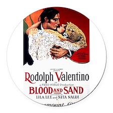 rudolph valentino Round Car Magnet