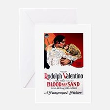 rudolph valentino Greeting Card