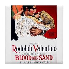 rudolph valentino Tile Coaster