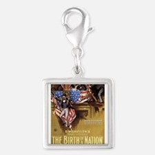 the birth of a nation Silver Square Charm