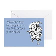 Trending Tweet Love Greeting Card