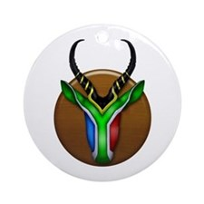 Springbok Trophy Ornament (Round)