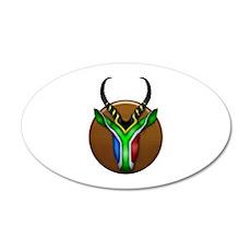 Springbok Trophy 20x12 Oval Wall Decal