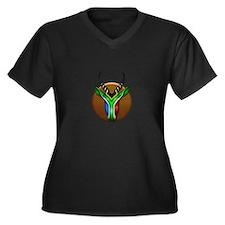 Springbok Trophy Women's Plus Size V-Neck Dark T-S