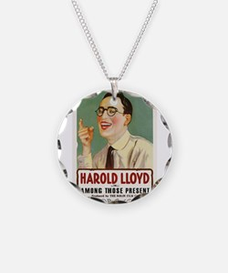 harold lloyd Necklace Circle Charm