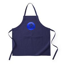Om Blue Button Apron (dark)