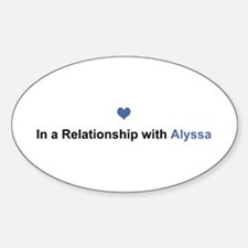 Alyssa Relationship Oval Decal