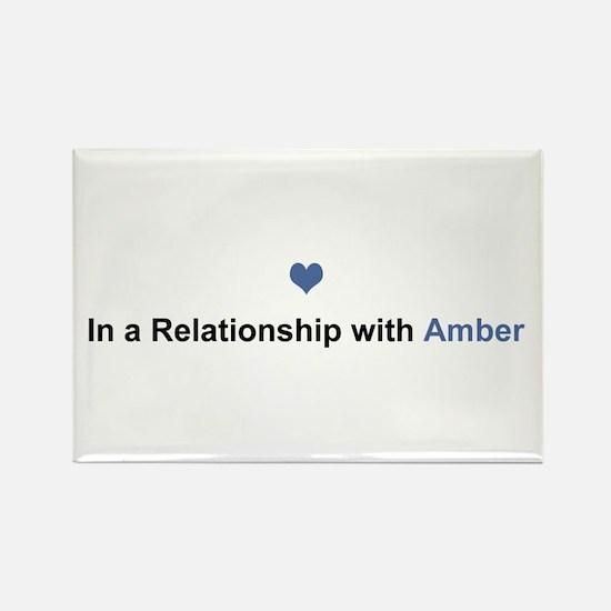 Amber Relationship Rectangle Magnet