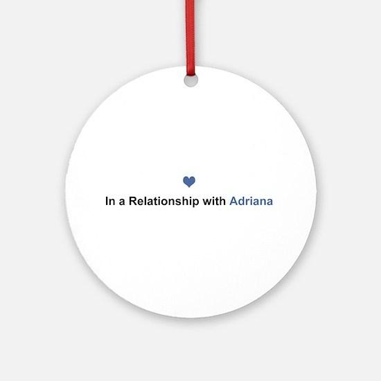 Adriana Relationship Round Ornament