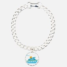 Blue Red and Yellow Tug Boat Bracelet