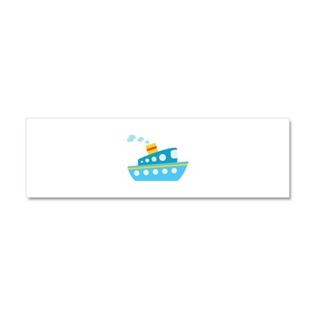 Blue Red and Yellow Tug Boat Car Magnet 10 x 3