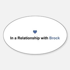 Brock Relationship Oval Decal