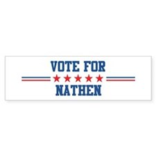 Vote for NATHEN Bumper Car Sticker