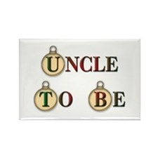 Christmas Uncle To Be Rectangle Magnet