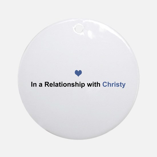 Christy Relationship Round Ornament