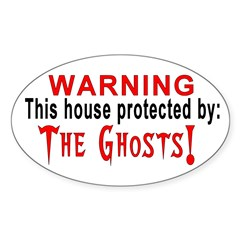Protected By: Ghosts Oval Decal