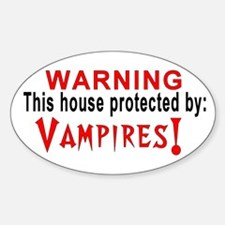 Protected By: Vampires Oval Decal