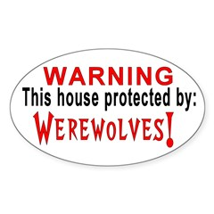 Protected By: Werewolves Oval Decal