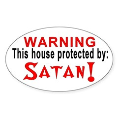Protected By: Satan Oval Decal