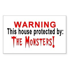Protected By: Monsters Rectangle Decal