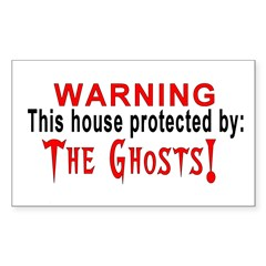Protected By: Ghosts Rectangle Decal