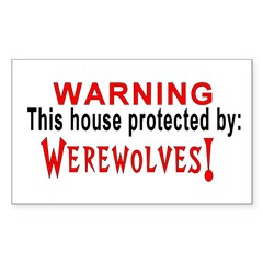 Protected By: Werewolves Rectangle Decal