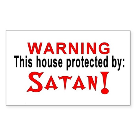 Protected By: Satan Rectangle Sticker