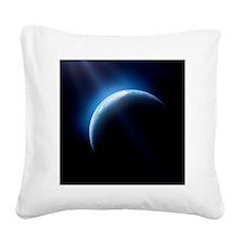 Crescent Earth - Square Canvas Pillow