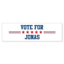 Vote for JONAS Bumper Bumper Sticker