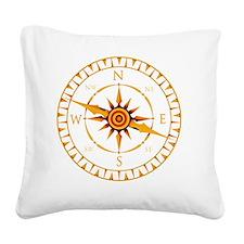 Compass rose - Square Canvas Pillow