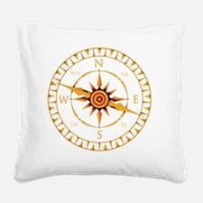 Compass rose - Square Canvas Pillow