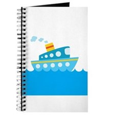 Boat in Blue Water Journal