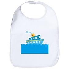 Boat in Blue Water Bib
