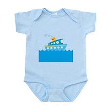 Boat in Blue Water Infant Bodysuit