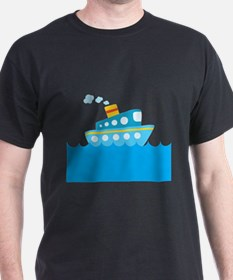 Boat in Blue Water T-Shirt