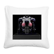 Female breasts, artwork - Square Canvas Pillow