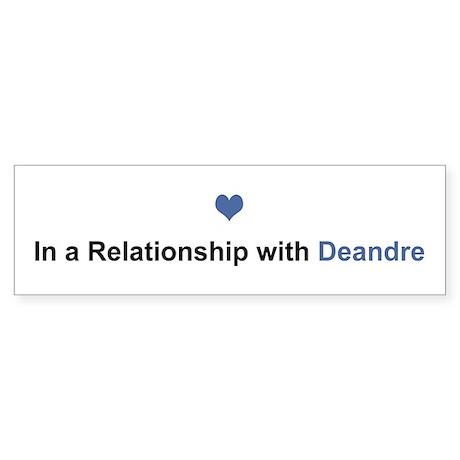 Deandre Relationship Bumper Sticker