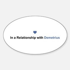 Demetrius Relationship Oval Decal