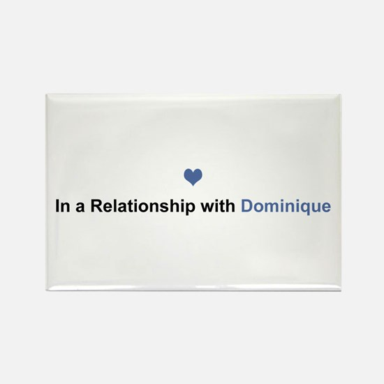 Dominique Relationship Rectangle Magnet