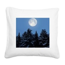 Full Moon - Square Canvas Pillow