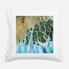 Ganges River delta, India - Square Canvas Pillow