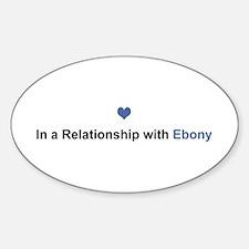 Ebony Relationship Oval Decal